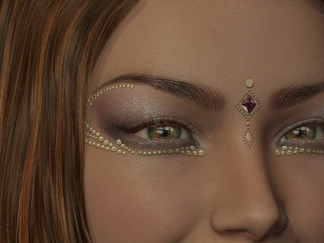zdobené oči