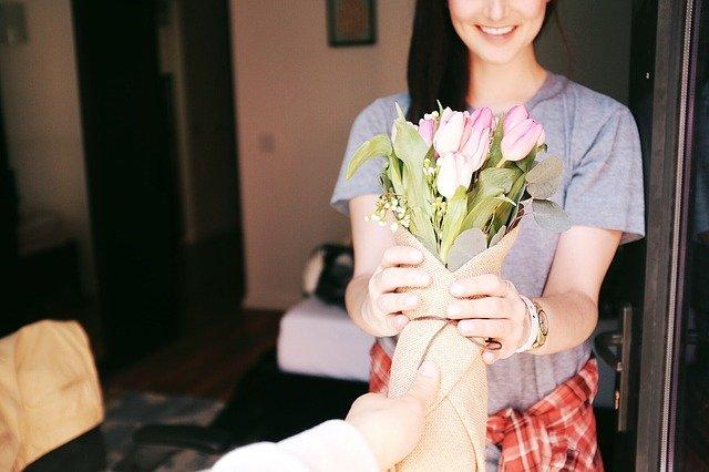 darované kytky