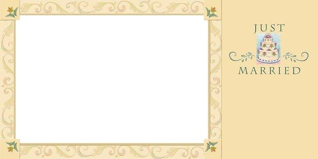 Šablona pro svatební oznámení